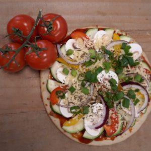 verse groente pizza